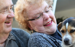 An elderly person can derive many benefits from owning a dog