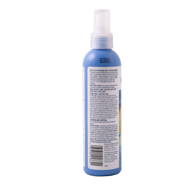 A water based flea and tick spray for cats, Hartz SKU 3270001864