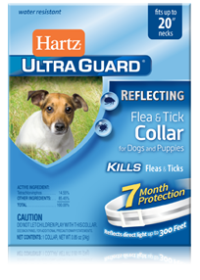 Hartz UltraGuard Reflecting Flea and Tick Collar for Dogs
