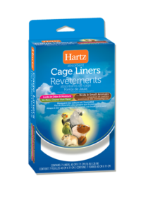 Hartz® absorbent cage liners for birds and small animals. Hartz SKU 3270002913