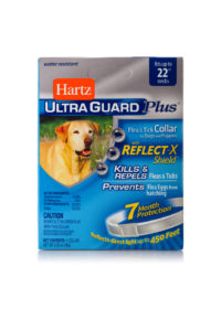 A pet collar that controls fleas and ticks on dogs, Hartz SKU 3270004183