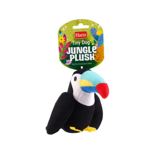 Squeaky dog toy in the shape of a plush toucan, Hartz SKU 3270004353