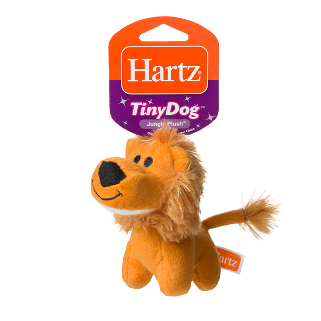 Squeaky dog toy in the shape of a plush lion, Hartz SKU 3270004353
