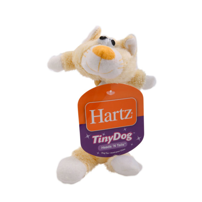 Plush yellow cat and rope toy for small dogs, Hartz SKU 3270004354