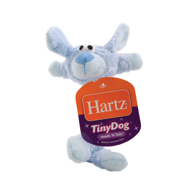 Plush blue rabbit and rope toy for small dogs, Hartz SKU 3270004354