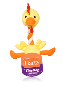 Hartz Tiny Dog Heads 'N Tails Dog Toys