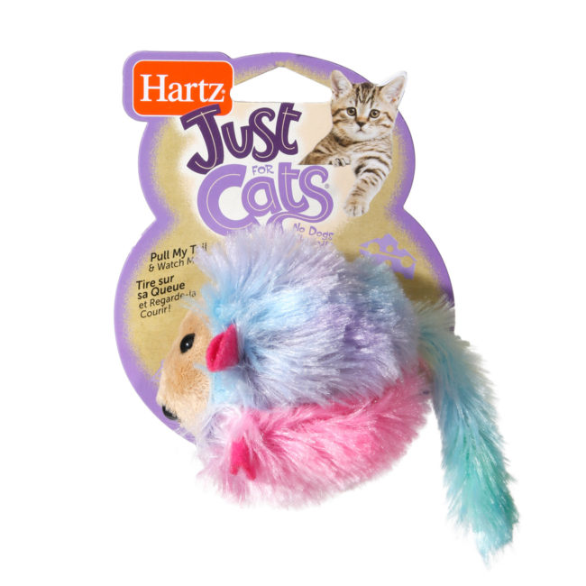 Colorful mouse toy for cats that moves, Hartz SKU 3270010423