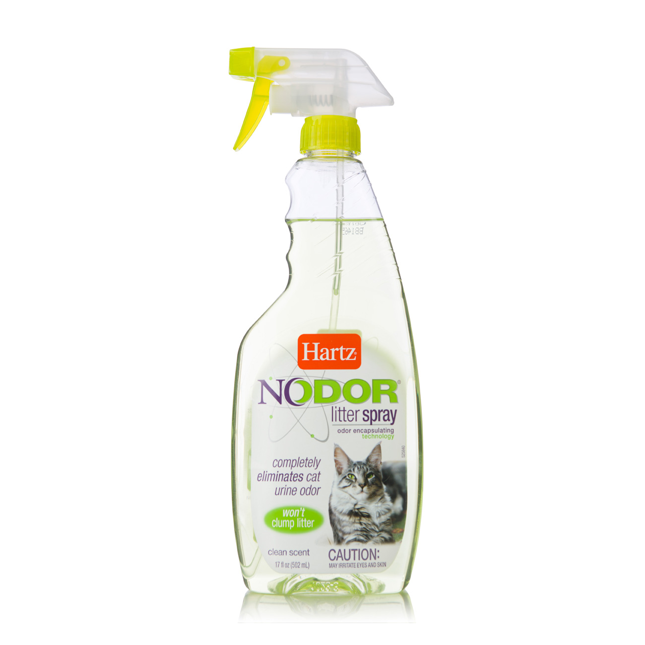 Scented spray for eliminating cat odors like urine, Hartz SKU 3270011443