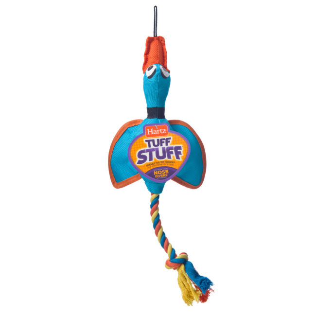 Blue duck chew toy and rope for large dogs, Hartz SKU 3270011577