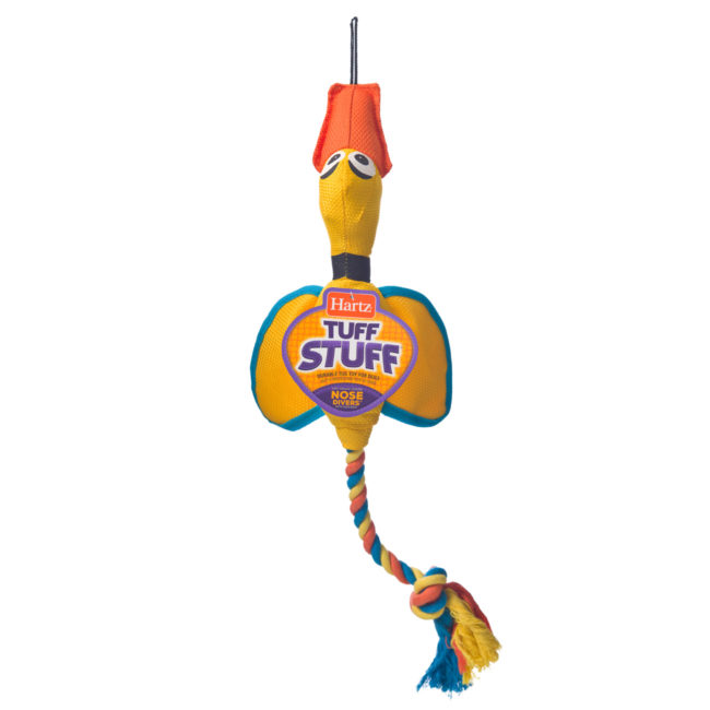 Yellow duck chew toy and rope for large dogs, Hartz SKU 3270011577