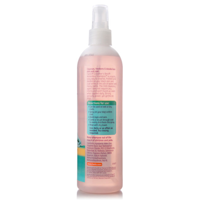 Directions to apply dry shampoo for dogs, Hartz SKU 3270012106