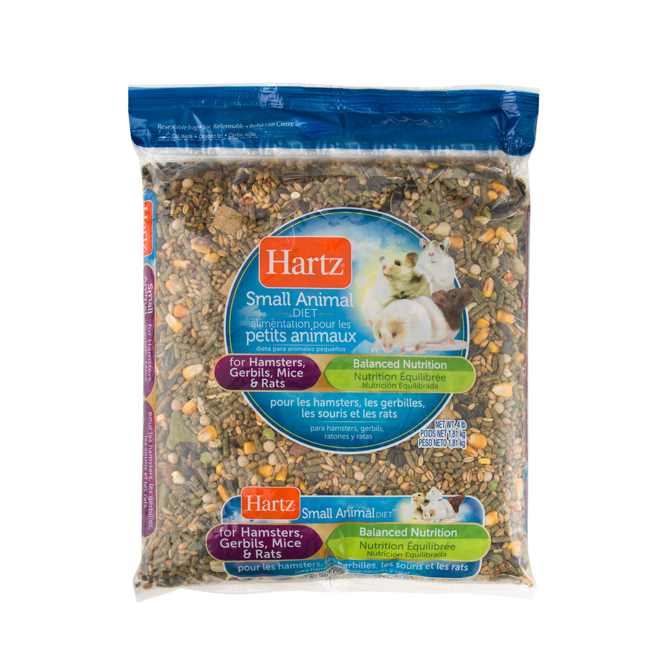 Alimentation Hamster hartz® small animal diets for hamsters, gerbils, mice, & rats - 4lb