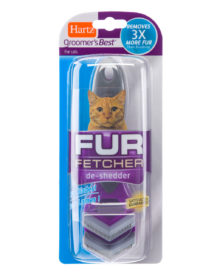 Microcomb de-shedder for removing excess cat fur, Hartz SKU 3270012784