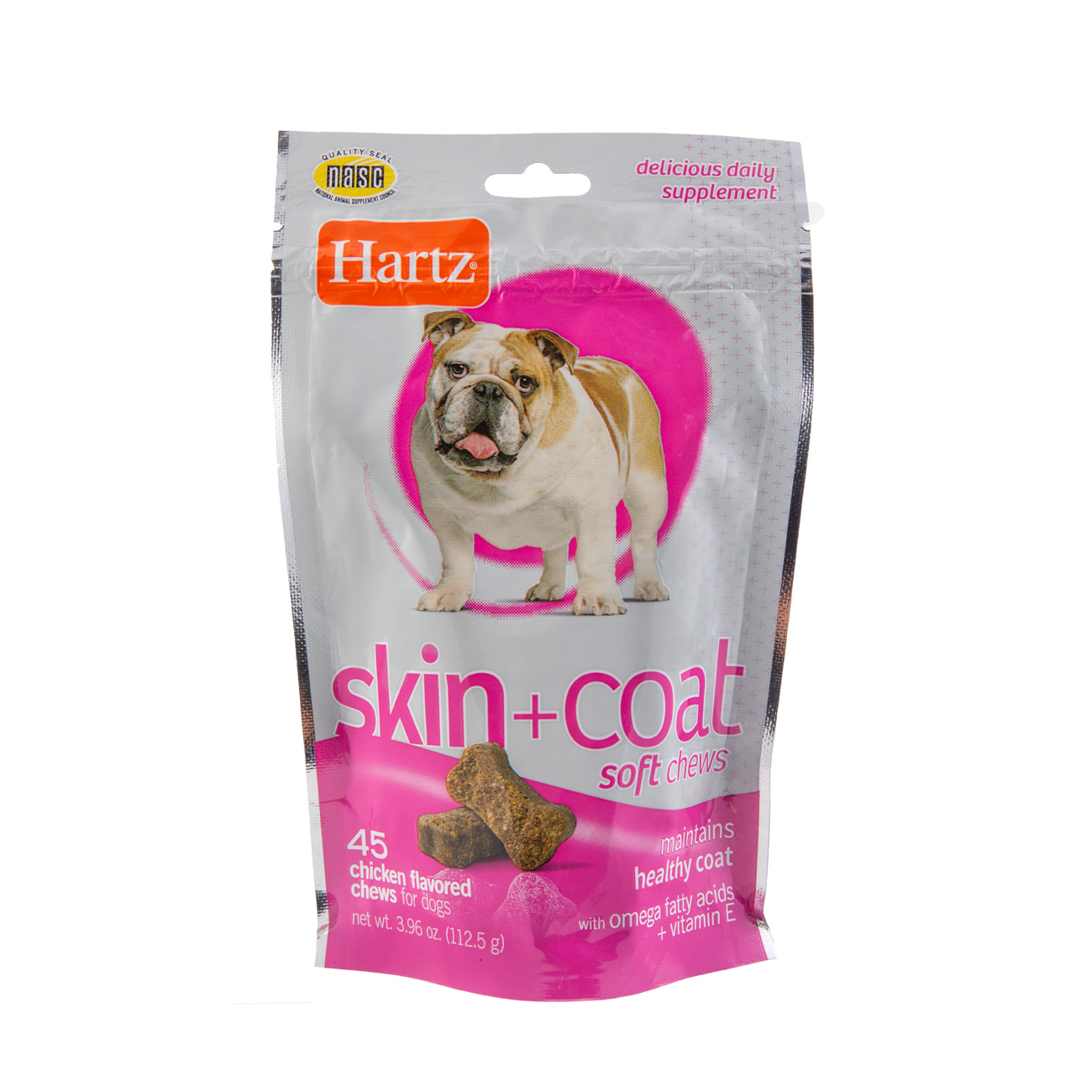 Dog treat supplement for healthy skin and coat, Hartz SKU 3270014728