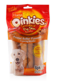 Pig skinned twisted chew treats for dogs, Hartz SKU 3270015133