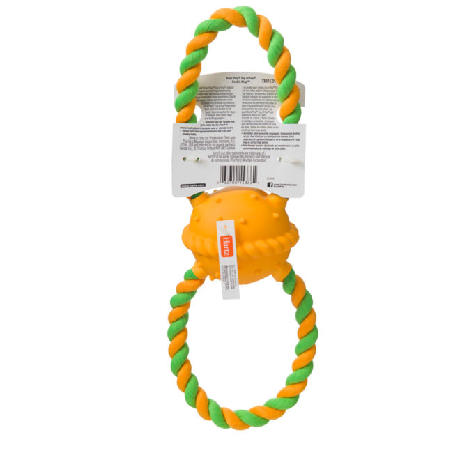 Bacon scented heavy duty rope toy for dogs, Hartz SKU 3270015386