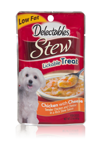 Delectables Stew Lickable Treat Chicken With Cheese Hartz