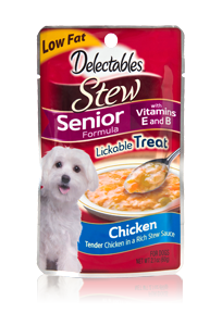 Delectables Stew Lickable Treat Chicken Senior Formula