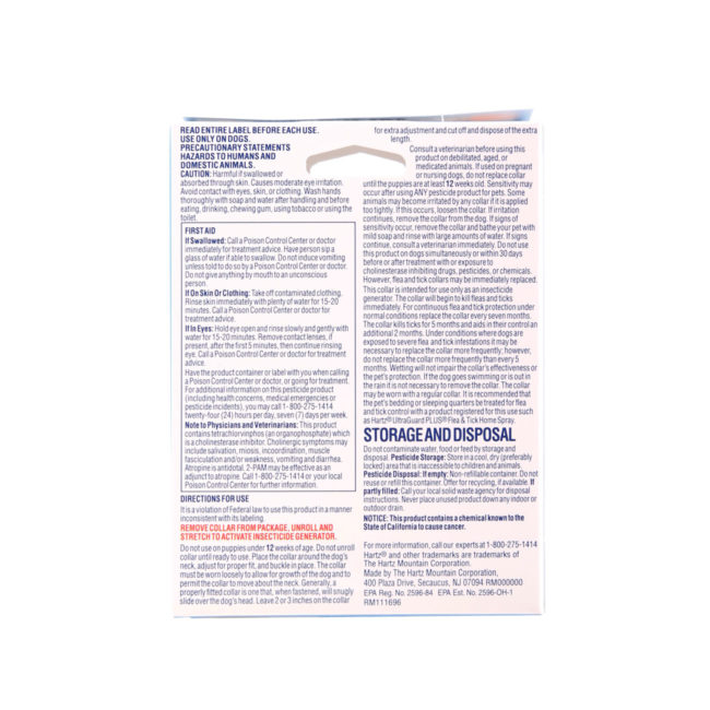 Directions to flea and tick collar for puppies, Hartz SKU 3270080478