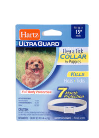 A flea and tick repellent collar for puppies, Hartz SKU 3270080478