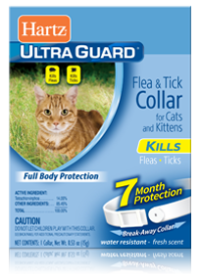 Hartz Flea and Tick Collar for Cats - White