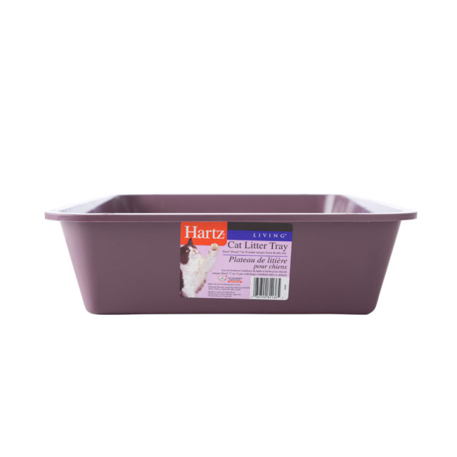 A purple litterbox or tray for cats, Hartz SKU 3270081136