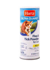 A flea and tick powder for cats, Hartz SKU 3270084138