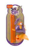 A fishing rod and sparkly orange fish toy for cats, Hartz SKU 3270088538