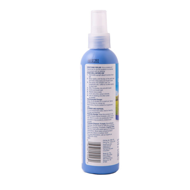Directions to flea and tick spray for cats and kittens, Hartz SKU 3270090745