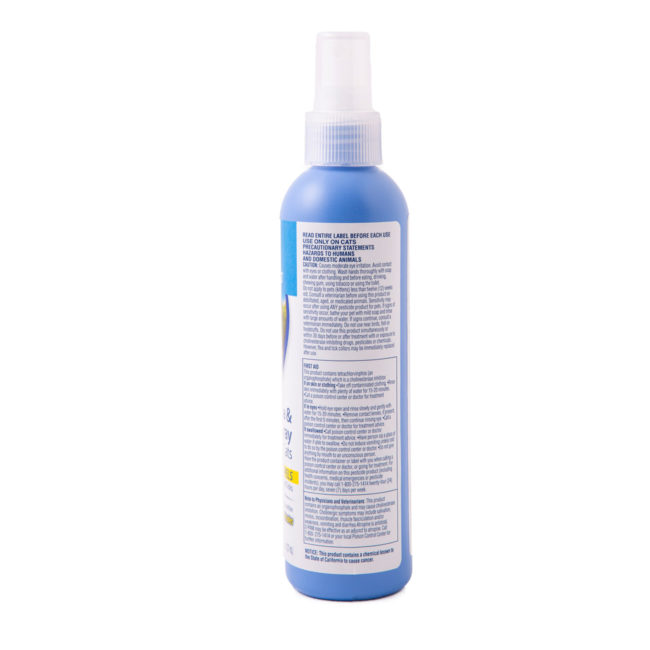 Medical warning to flea and tick spray for cats, Hartz SKU 3270091028