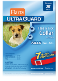 Hartz Flea and Tick Collar for Dogs - Red