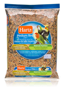 Hartz® Cockatiel, Lovebird, Small Conure Diet for Medium Birds