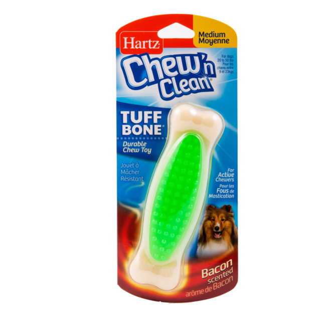 Green bacon scented chew toy for medium dogs, Hartz SKU 3270097528