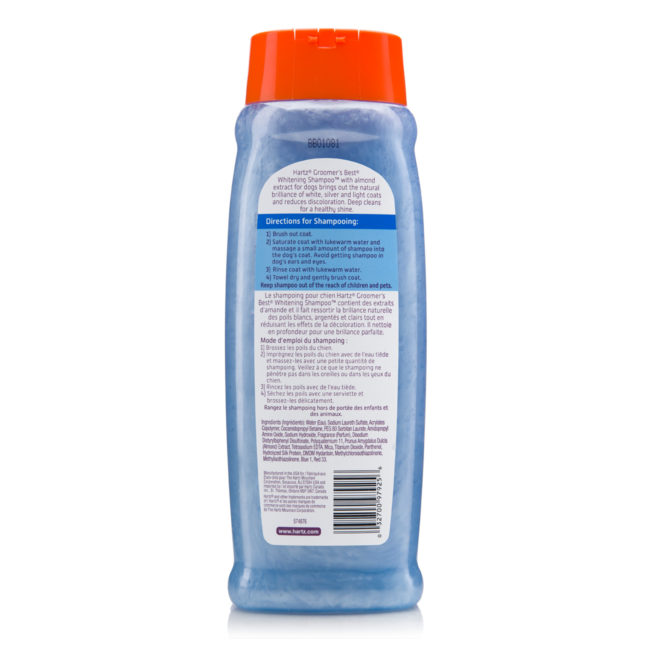 Directions to whitening shampoo for dogs, Hartz SKU 3270097258