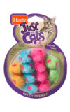 Colorful pack of furry mouse toys for cats, Hartz SKU 3270098059