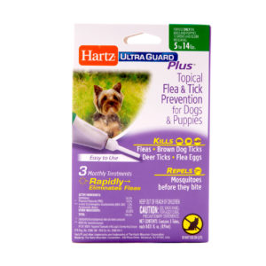 A topical flea and tick treatment for dogs, Hartz SKU 3270098206