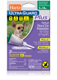 Hartz UltraGuard Plus Topical Flea and Tick Prevention for Dogs and Puppies