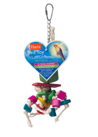 A twine and wood toy for pet birds, Hartz SKU 3270098535