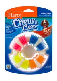 A multi-textured teething toy ring for medium dogs, Hartz SKU 32799395