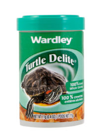 Dried shrimp to bring variety to a pet turtle's diet, Hartz SKU 4332400300