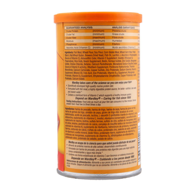 Ingredients of protein-fat flakes for goldfish, Hartz SKU 4332401526