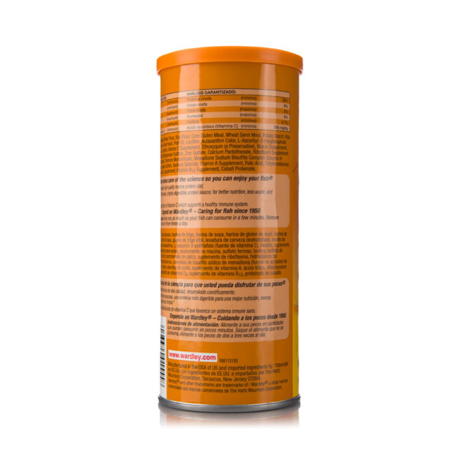 3 oz container of protein-fat flakes for goldfish, Hartz SKU 4332401526