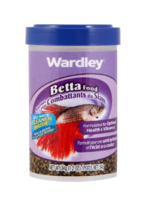 A pellet formula food developed for betta fish, Hartz SKU 4332401648