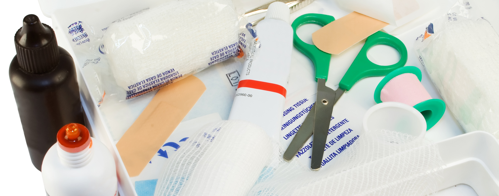 Medical supplies you need during a pet emergency, at the vet's office