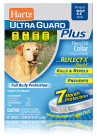 Hartz UltraGuard Plus Reflecting Flea and Tick Collar for Dogs