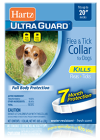 HartzUltraGuard Flea and Tick Collar for Dogs - White