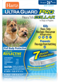 Hartz UltraGuard Pro Reflective Flea and Tick Collar for Dogs