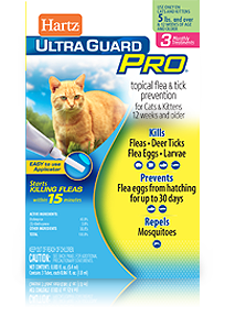 Hartz UltraGuard Pro Flea and Tick Drops for Cats