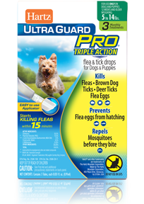 HartzUltraGuard Pro Flea and Tick Drops for Dogs and Puppies