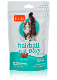 Hartz Hairball Remedy Plus for Cats & Kittens Soft Chews